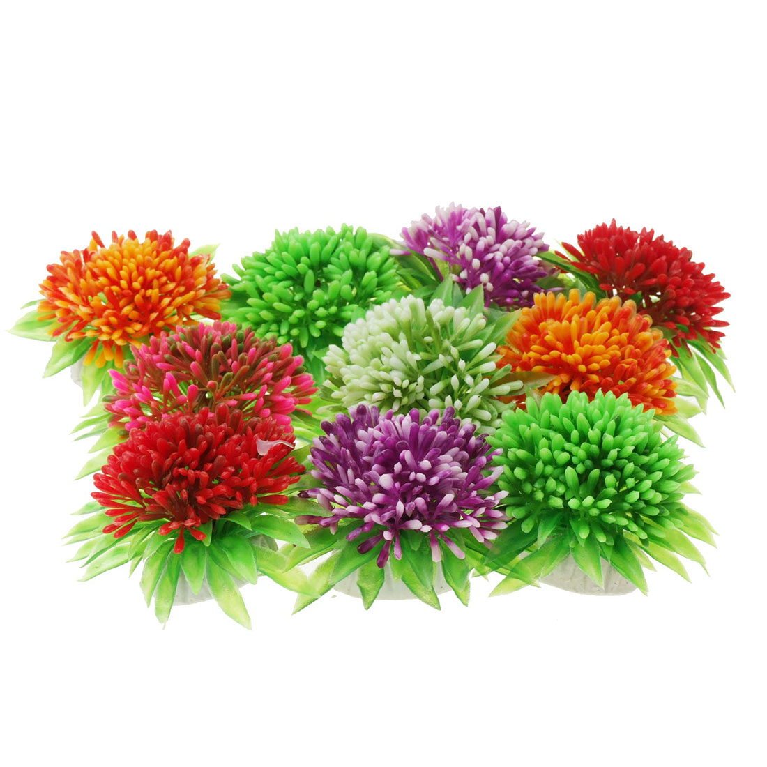 Flower Shaped Aquarium Plastic Plants Fish Ornament