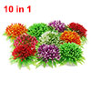 Charming Flower Shaped Aquarium Plastic Plants Fish Tank Ornament