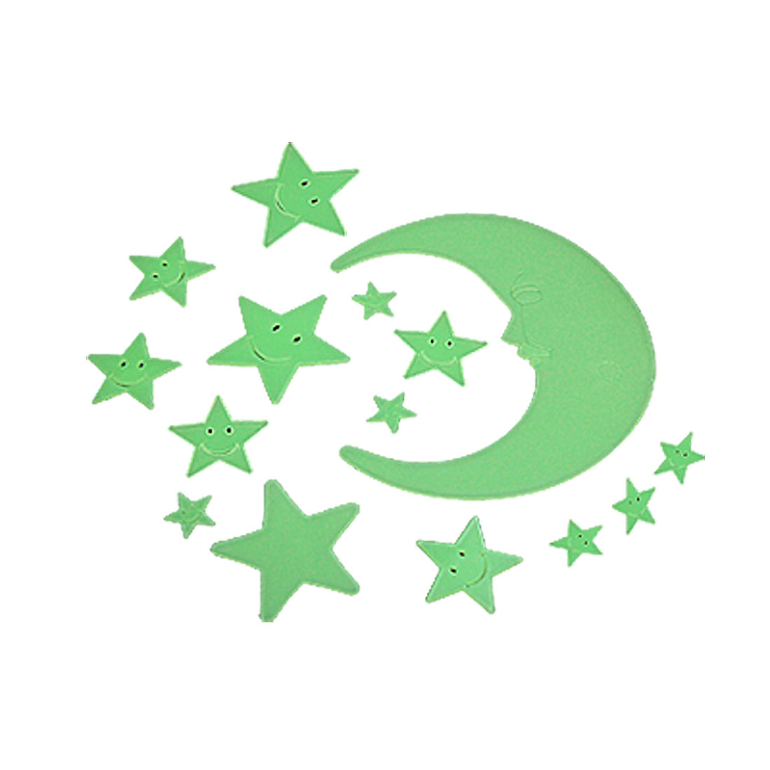 Fluorescent Moon & Stars Luminous Stickers Gift