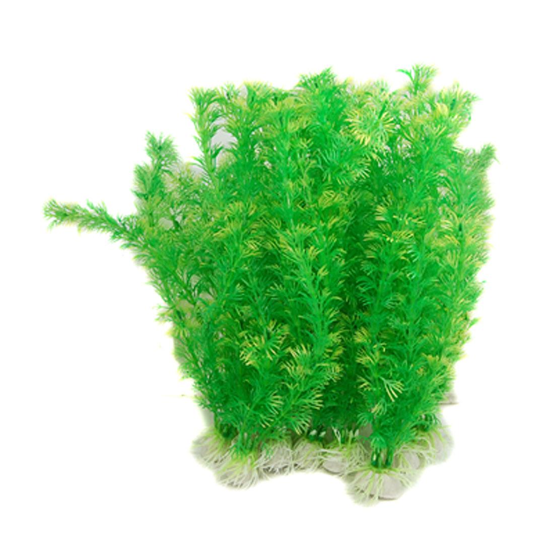 10 PCS Green Plastic Ornament Grass Decoration for Aquarium Tank