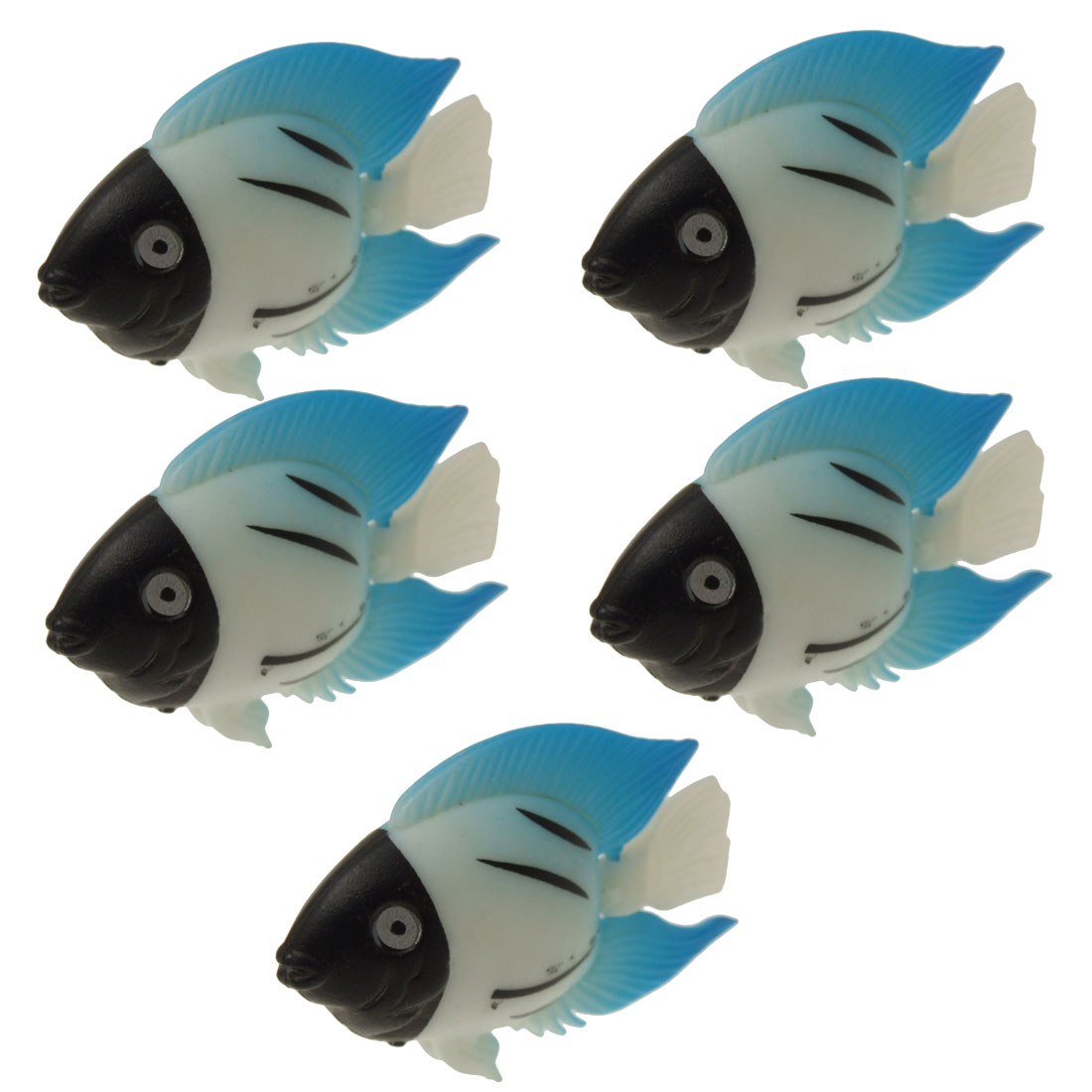 Set of 5 Decorative Aquarium Tank Plastic Floating Fish