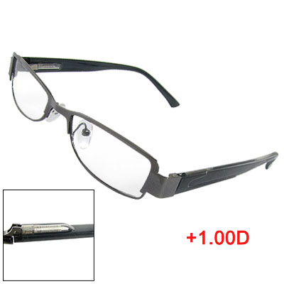 Black Frame Full Rim Optical Presbyopic Reading Glasses +1.00