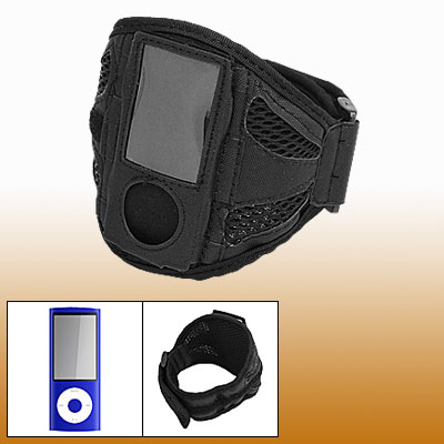 Black Armband Holder with Screen Guard for iPod Nano 5th Gen