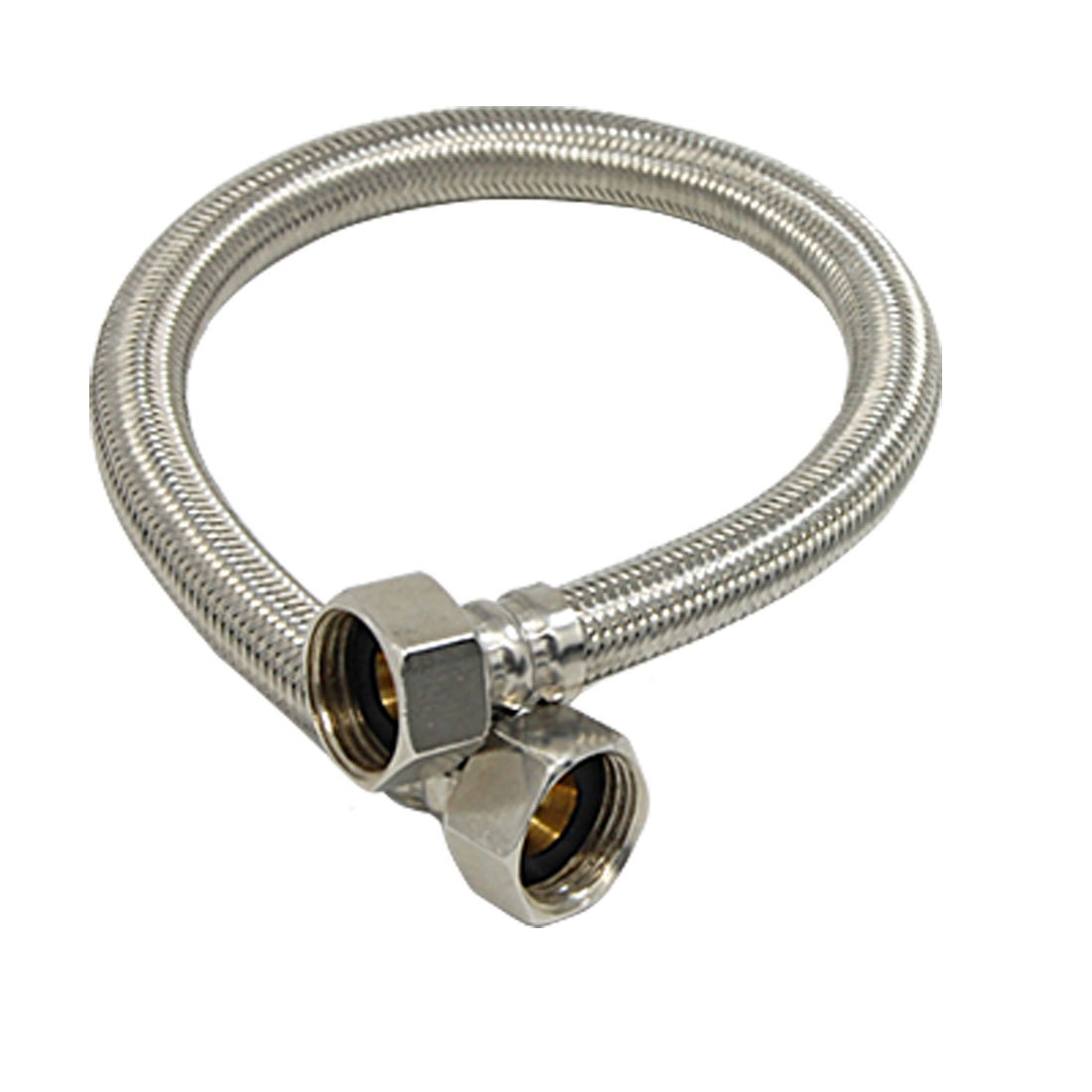 """Braided Water Heater Hose Connectors 16"""" x 1/2"""""""