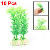 10 PCS Decorative Aquarium Tank Plastic Plants Ornament
