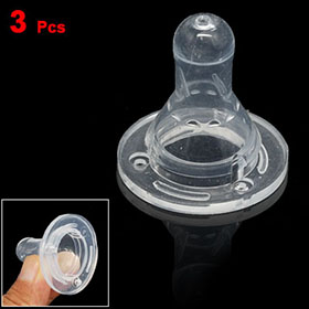 Soft Baby Bottle Cross Cut Clear Silicone Nipple 3pcs