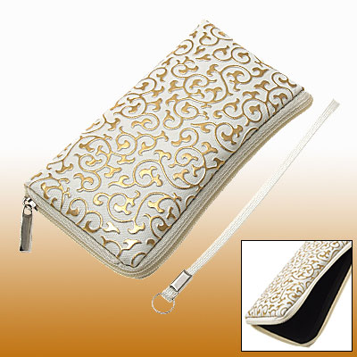 Elegant Pattern Purse Pouch with Hand Strap for Cell Phone iPhone 3G