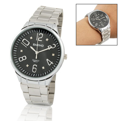 Trendy Luxury Round Case Quartz Wrist Watch for Man