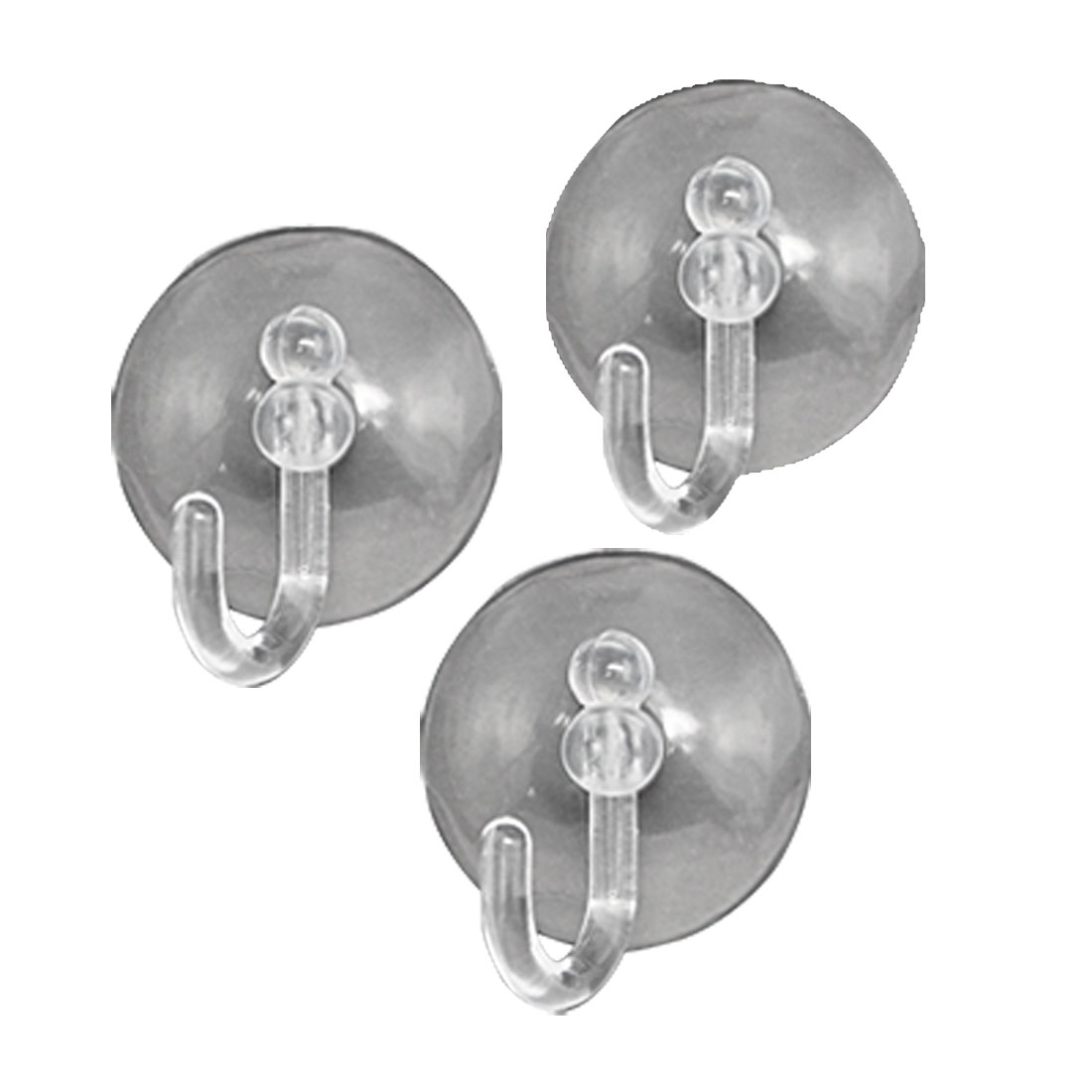 Clear Briefness Design Suction Cup Adhesion Hook 3PCs