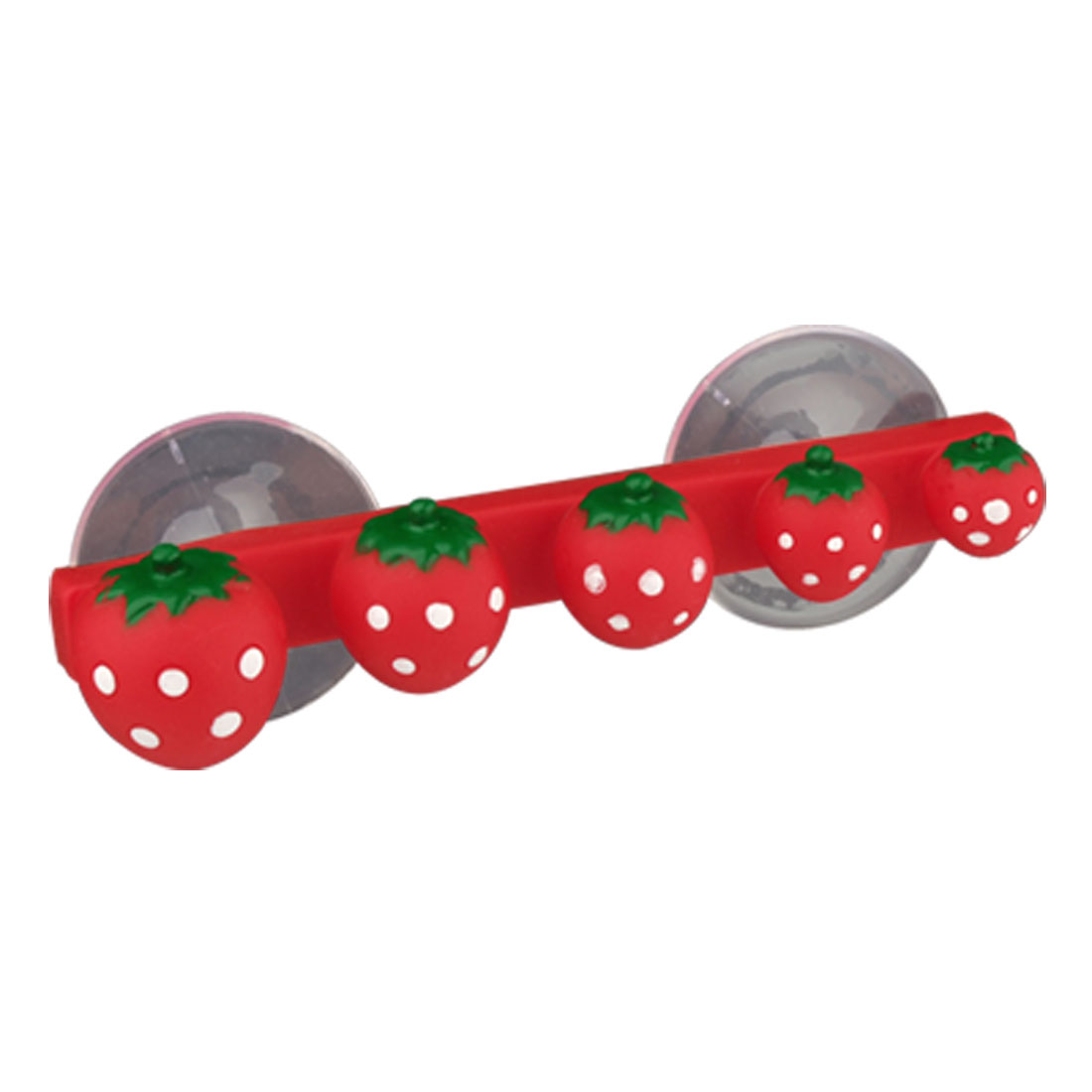 Plastic Toothbrush Holder w Suction Cups Strawberry Shaped Rack Bathroom Accessory