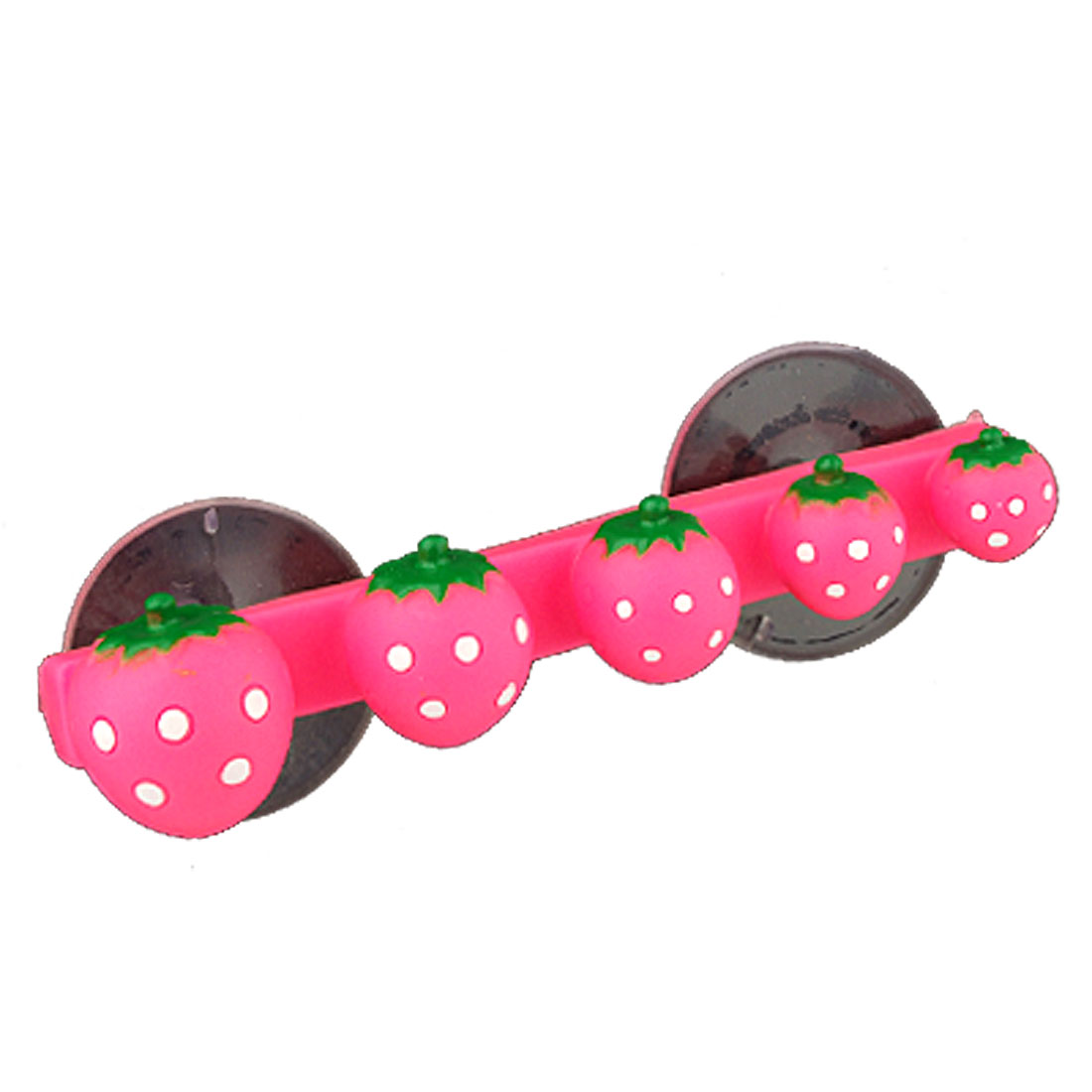 Strewberry Shaped Design Plastic Toothbrush Holder Rack With Suction