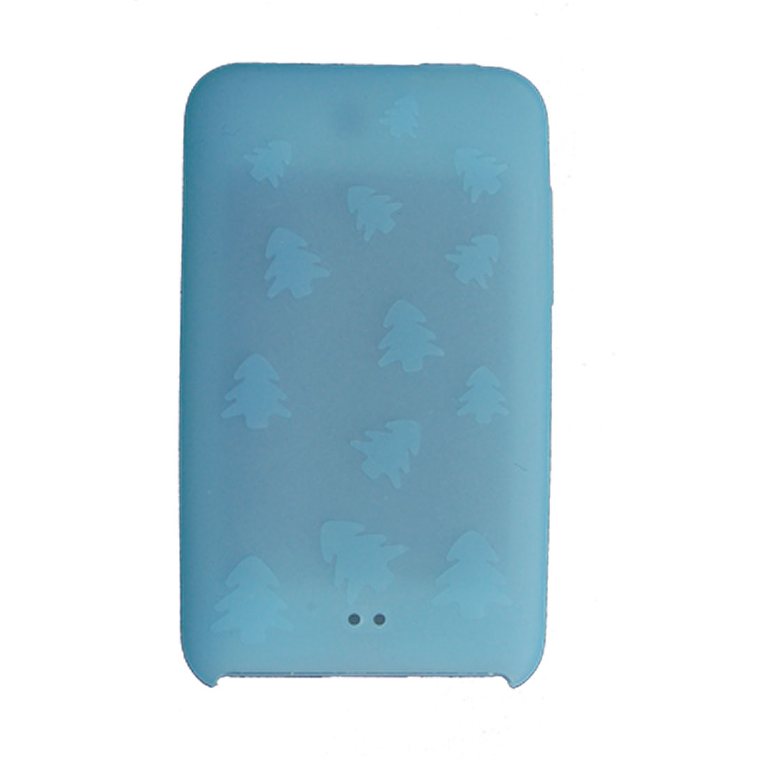 Xmas Print Silicone Back Case for iPod Touch II Light Blue