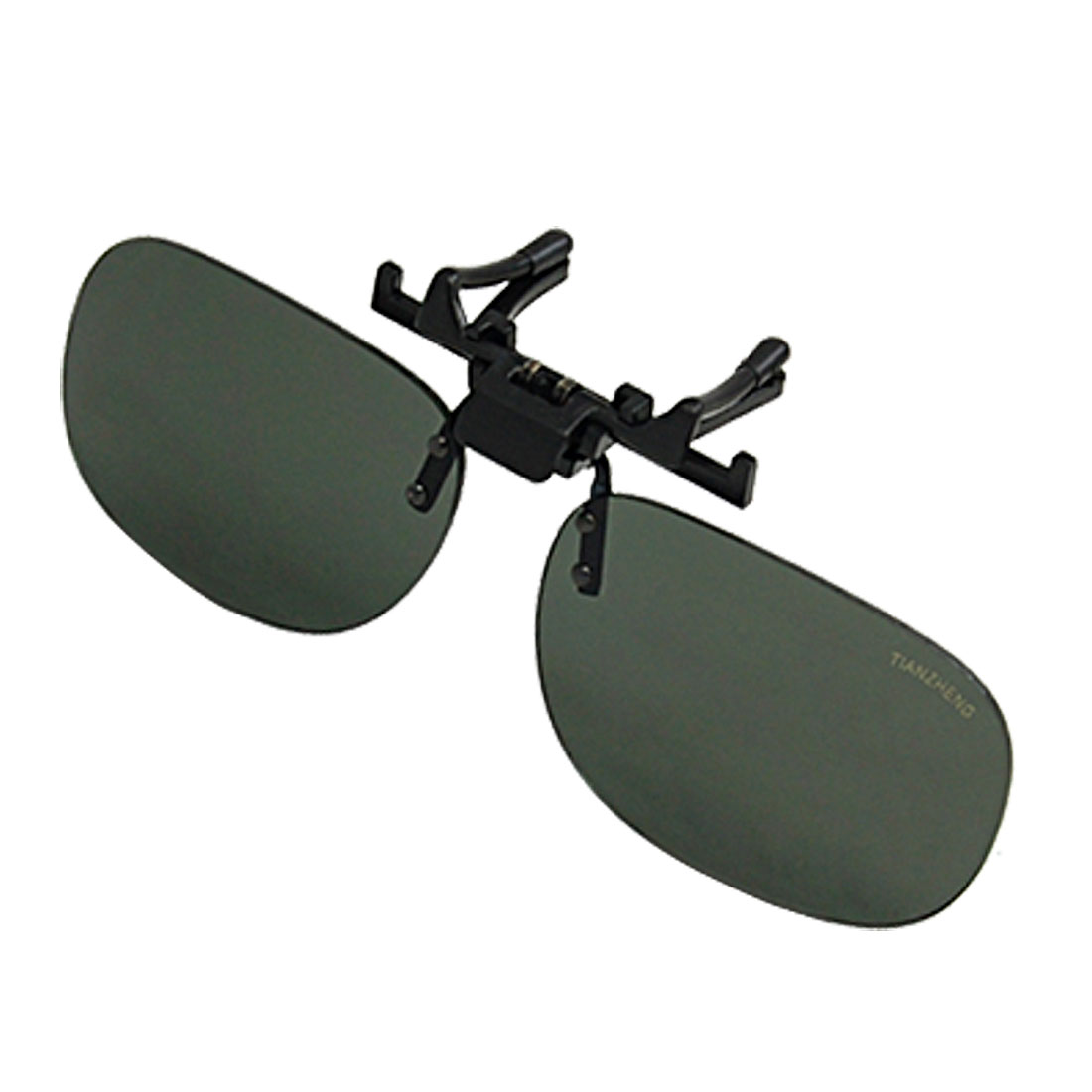 Darkgreen Plastic Lens Unisex Cool Clip-on Prescription Glasses