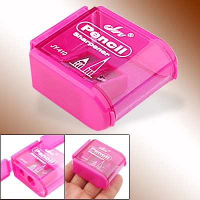 Stationery Amaranth Pink Pencil Sharpener with Dual Hole