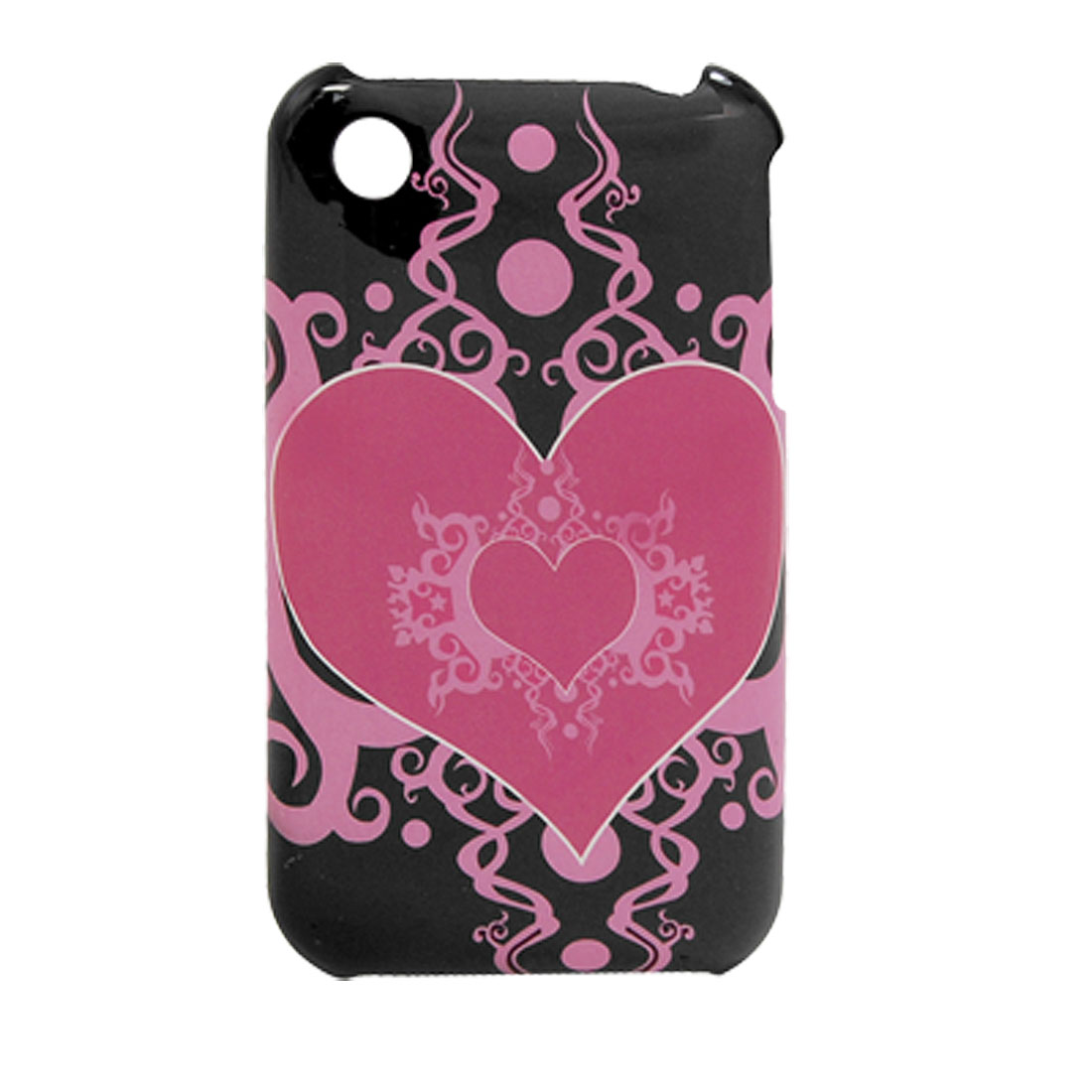 Heart Pattern Hard Plastic Back Case Shell for iPhone 3G
