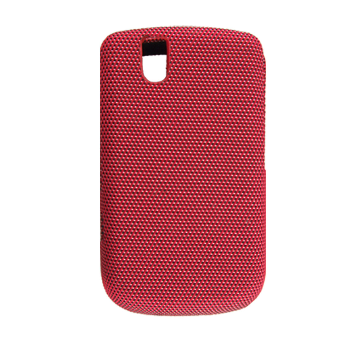 Red Nylon Covered Plastic Case Shell for Blackberry 9630