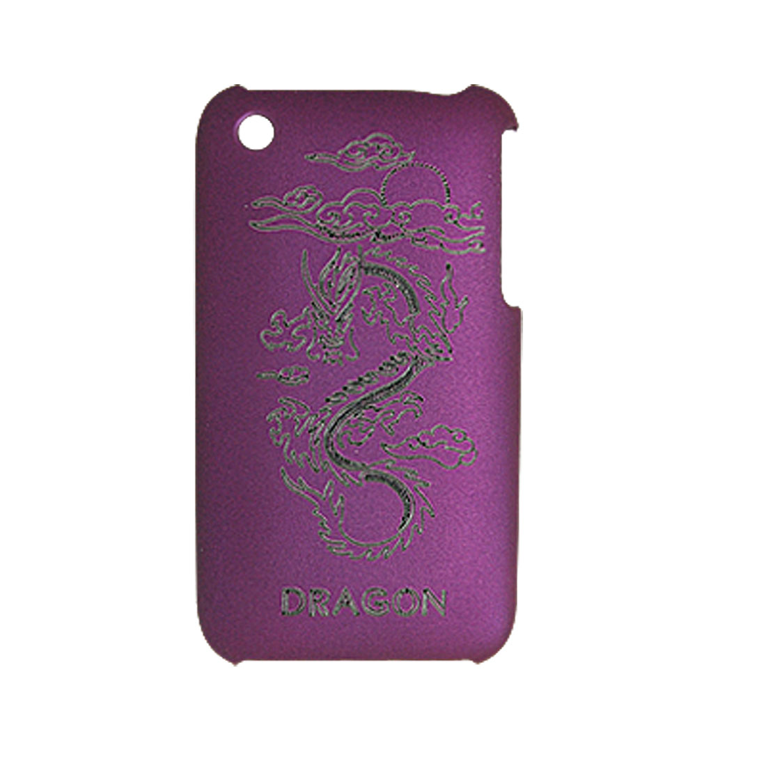 Dragon Design Hard Plastic Case Cover Purple for Apple iPhone 3G