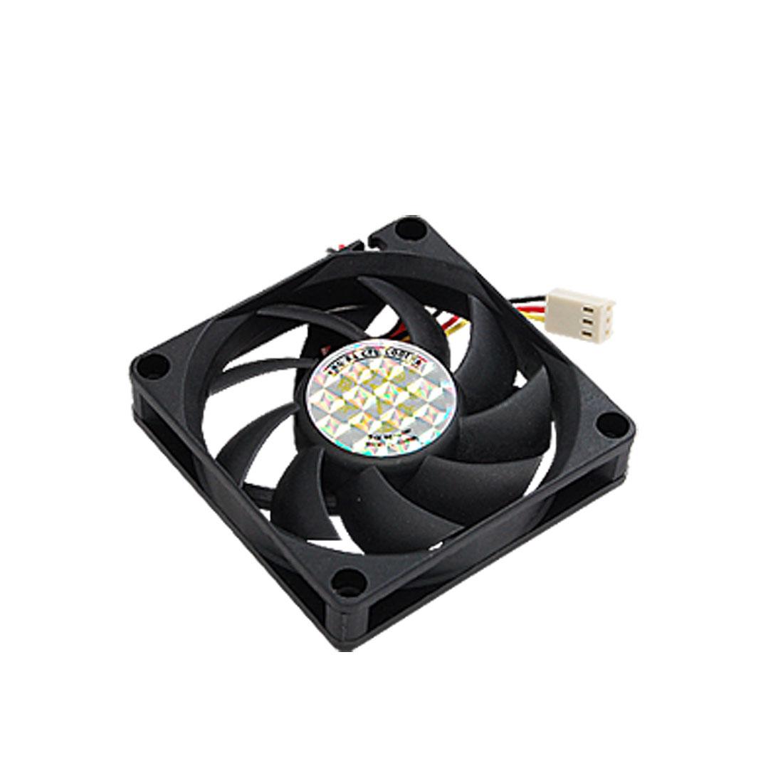 Black Plastic PC Desktop CPU Cooling Fan