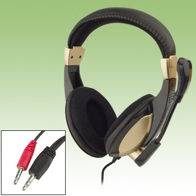 Audio Stereo PC Computer Headset Headphone Earphone Microphone
