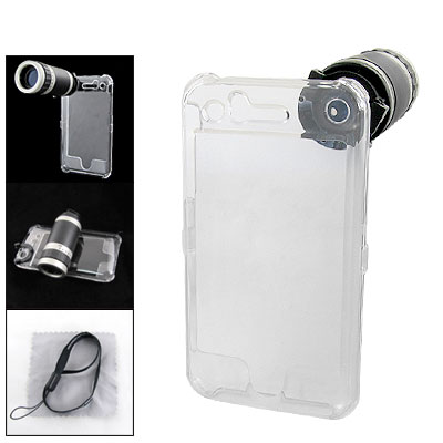 6X Optical Telescope w. Clear Case for Apple iPhone 3GS
