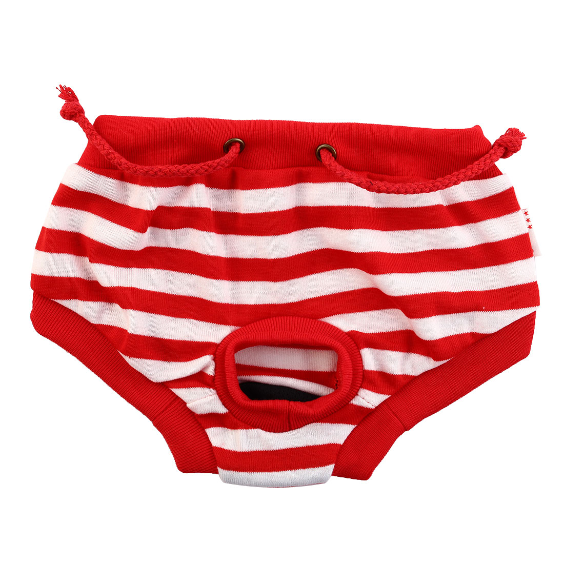 Red White Stripped Dog Clothes Apparel Sanitary Diaper Pants Underwear Size L