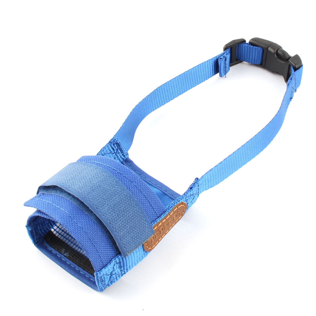 Pet Dog Adjustable Anti Biting Barking Chewing Mesh Mask Mouth Cover Muzzle Blue Size S