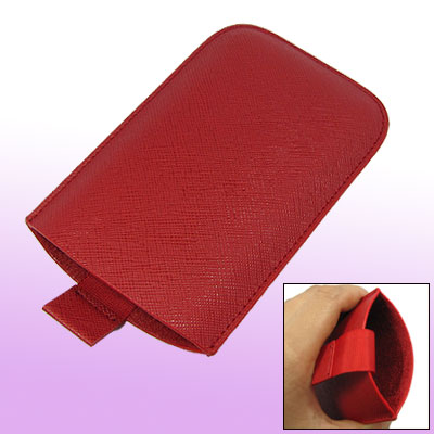 Red Faux Leather Case Cover Pouch for Apple iPhone 3G 3GS