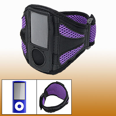 Armband Sports Case Holder Purple Black for iPod Nano 5th Generation 5G