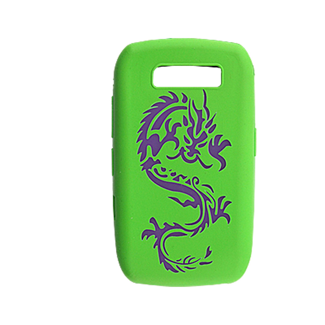 Green Dragon Pattern Silicone Skin Case for BlackBerry 8900