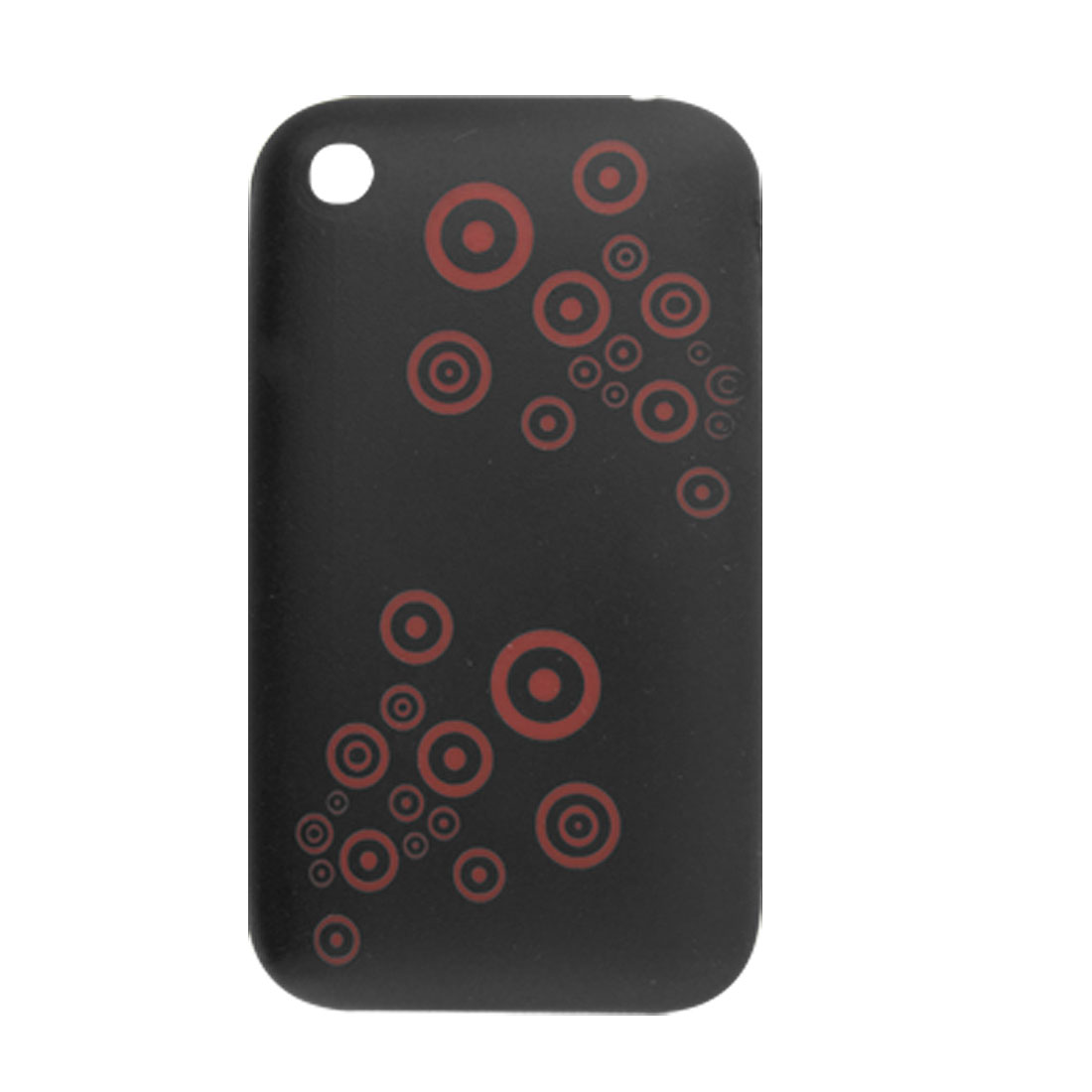 Red Dot Pattern Black Soft Skin Case for iPhone 3G