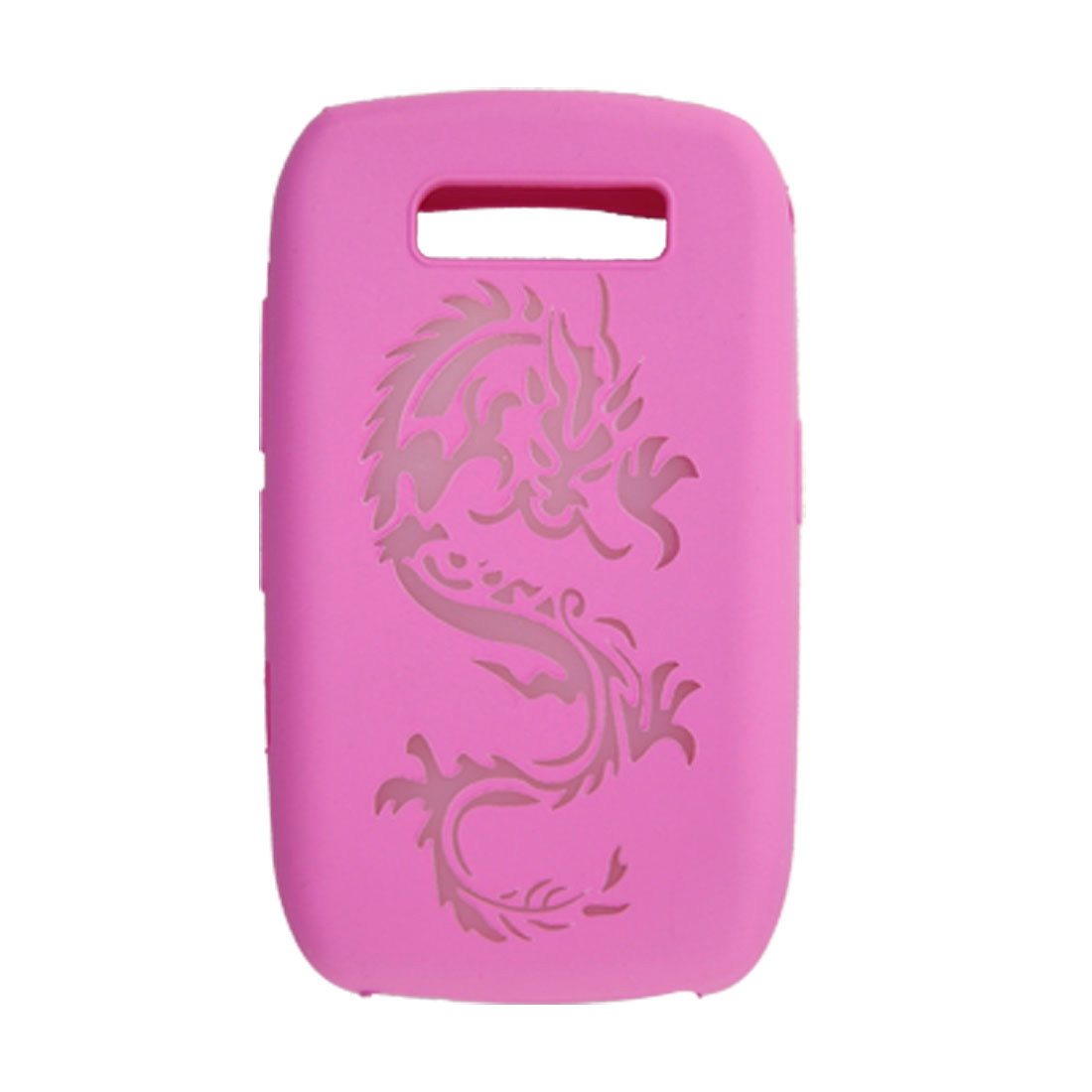 Deep Pink Dragon Pattern Silicone Skin for BlackBerry 8900
