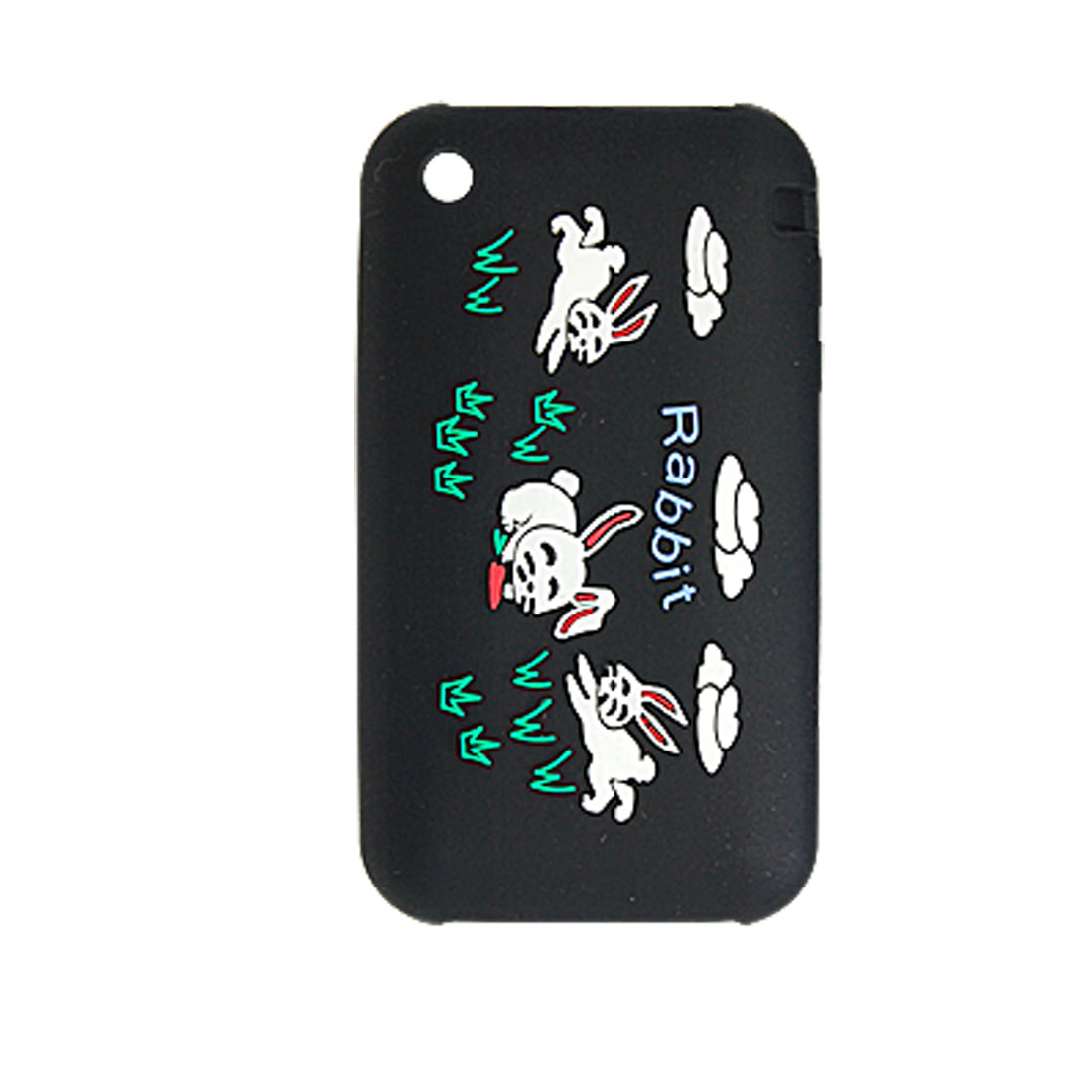 Rabbit Style Silicone Skin Case Black Cover for Apple iPhone 3G