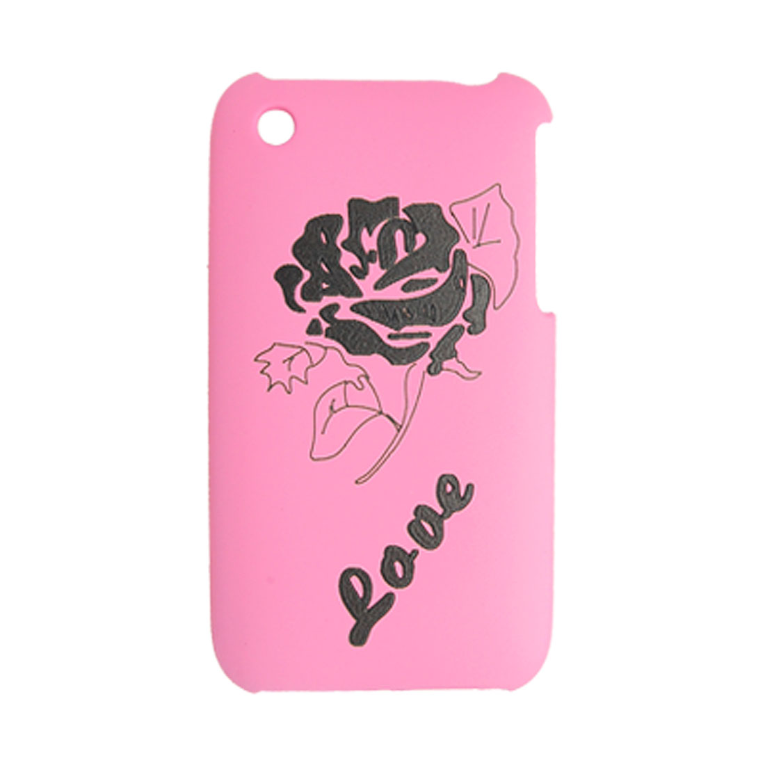 Pink Plastic Back Case Rose Style Cover for Apple iPhone 3G