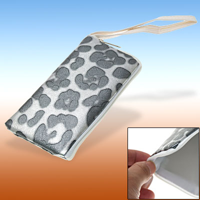 Unique Pattern Silver Tone Protective Pouch for iPhone 3G