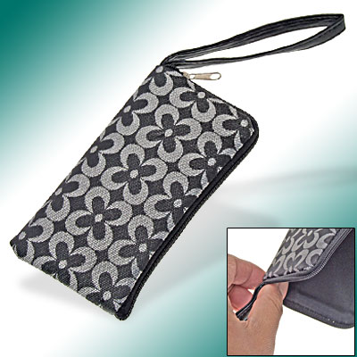 Black Protective Faux Leather Pouch for iPhone 3G