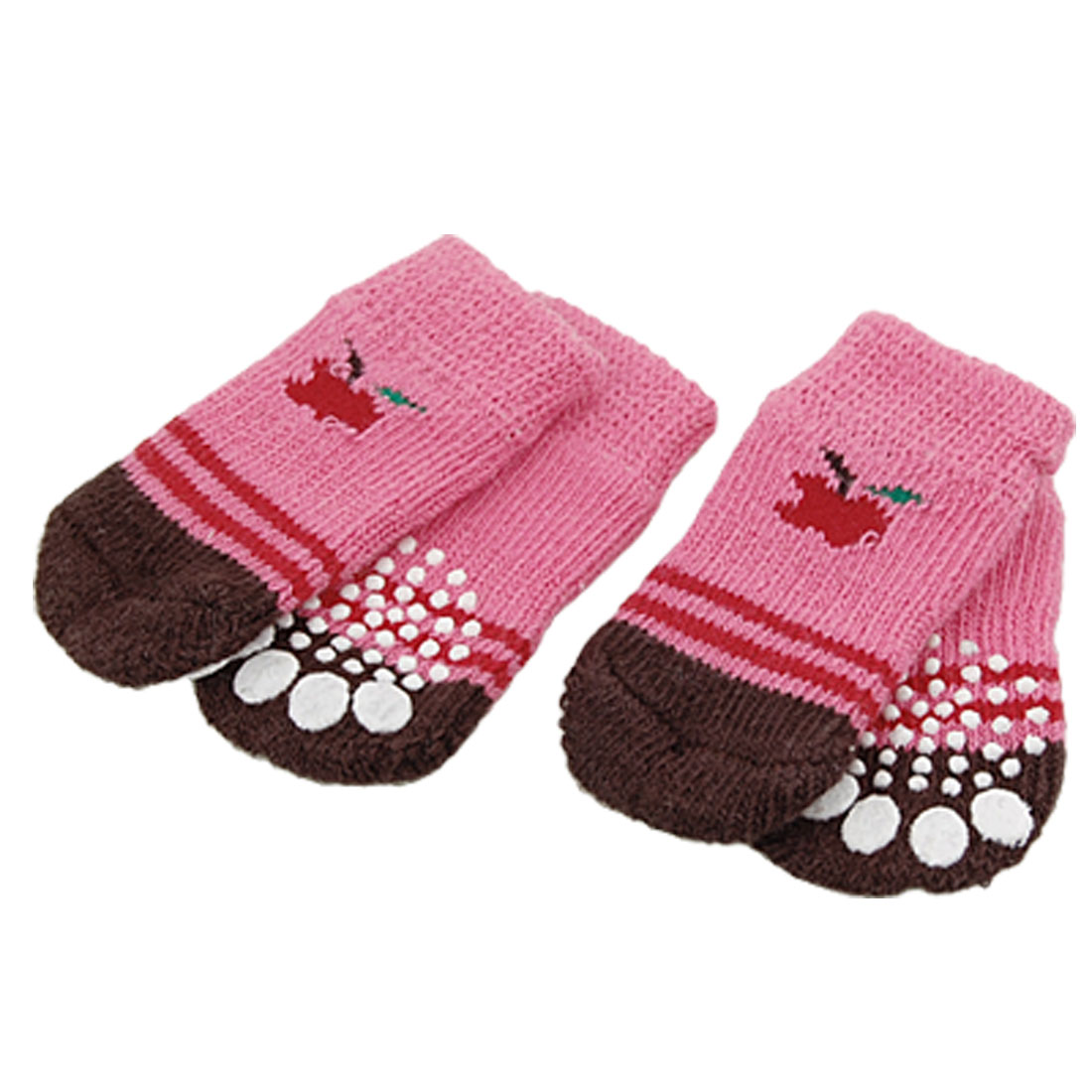 L6 x W3.1cm Pet Dog Puppy Doggie's Nonskid Socks 4PCS