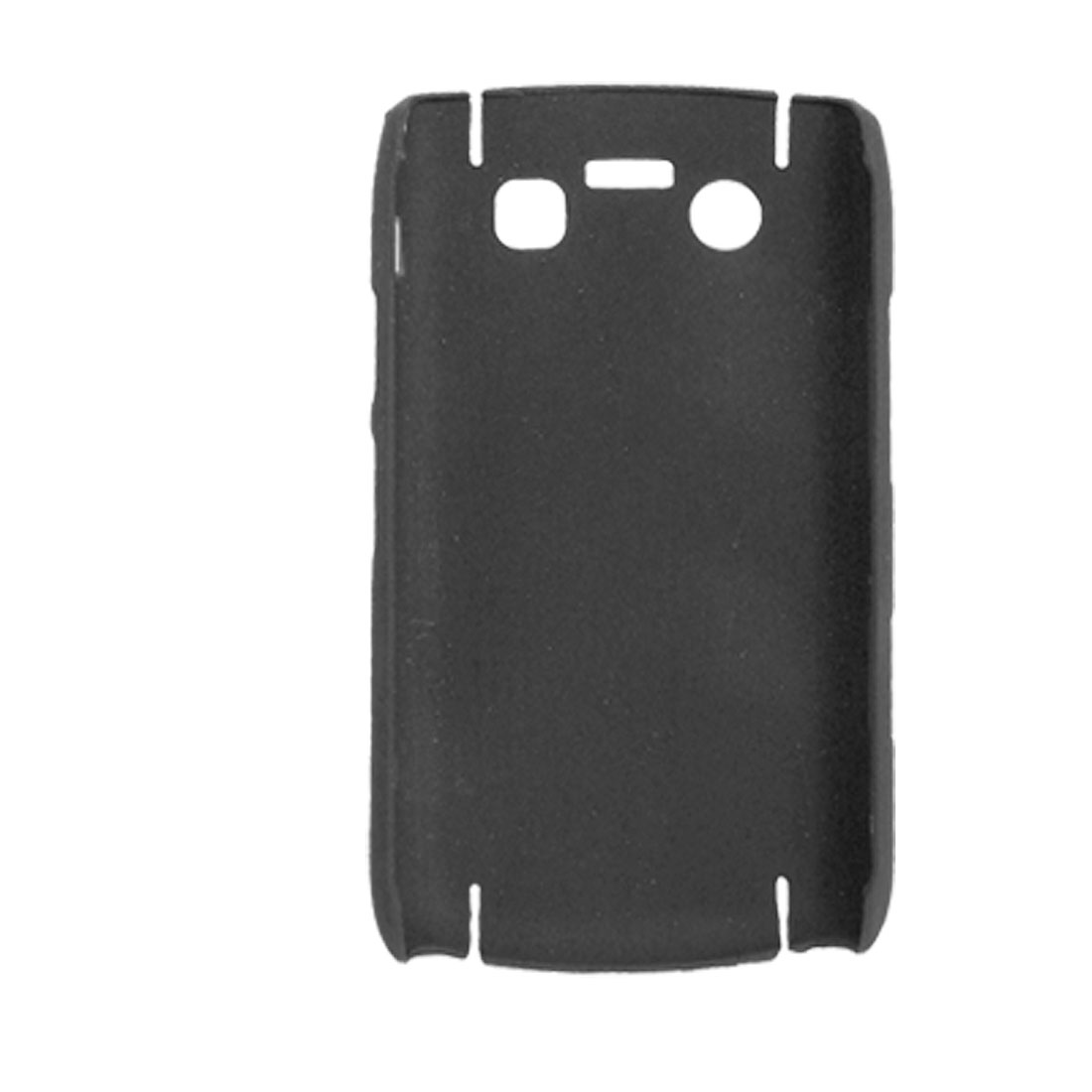 Black Plastic Rubberized Cover Shell for BlackBerry Bold 9700