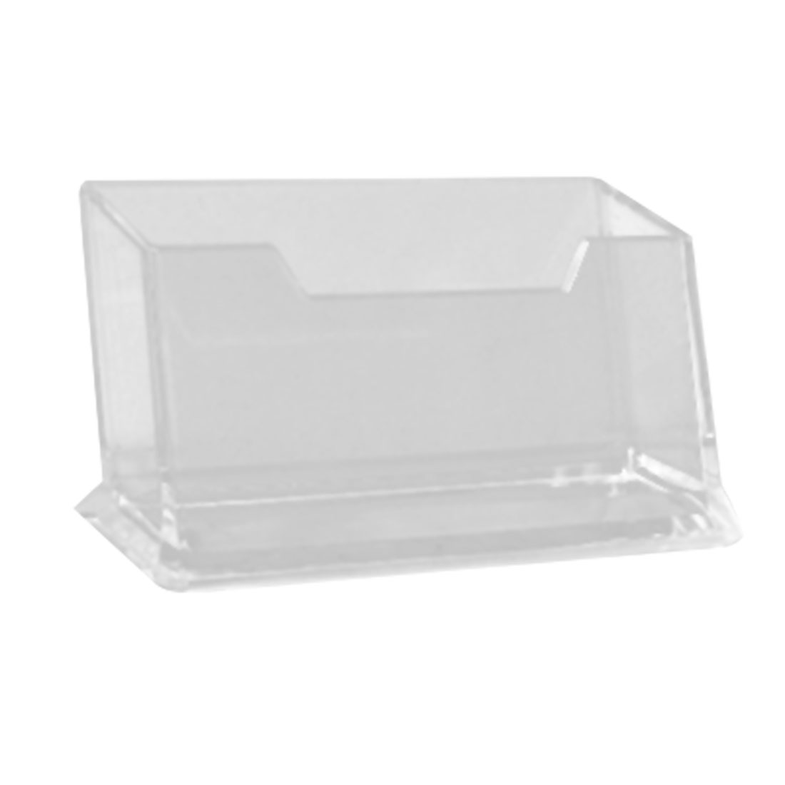Hard Plastic Transparent Desk Business Name Card Holder