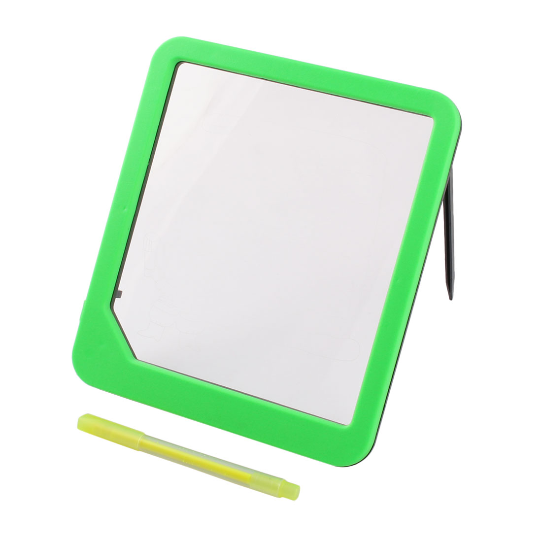 Green Light-up Clear Message Memo Board w Color Pen