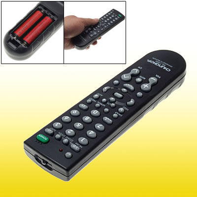 Home Plastic Universal Controller Remote Control for Television TV Black