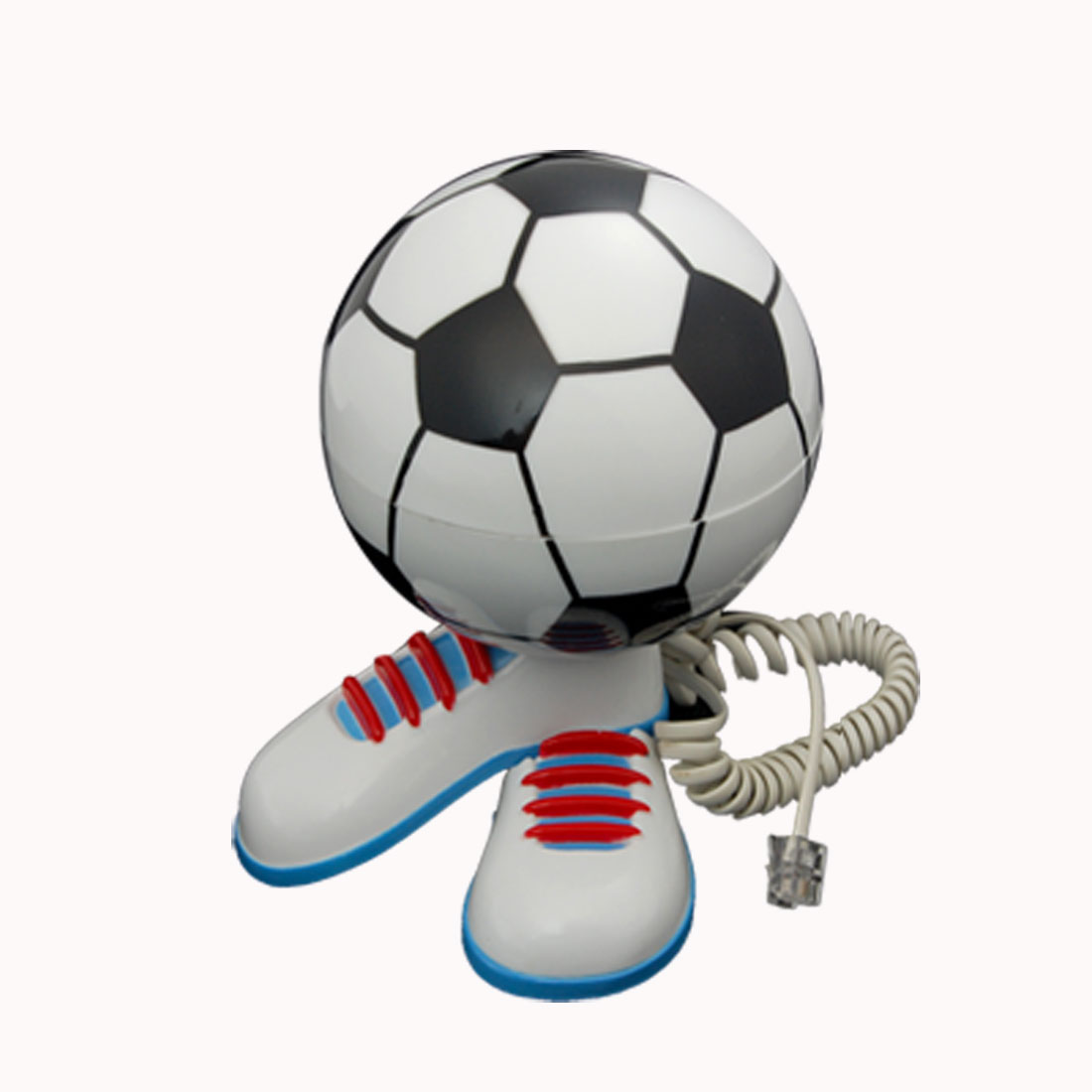 Plastic Wired RJ11 Cord Football Desk Telephone Phone