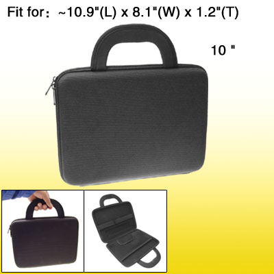 10 Inch Notebook Laptop Carrying Case Bag Handbag Black