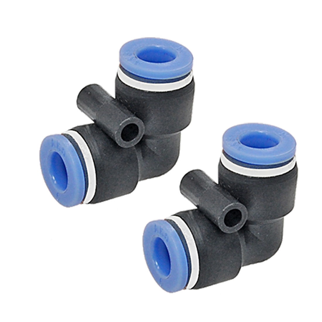 6 to 6mm Push In Right-angled Connector Round Fittings