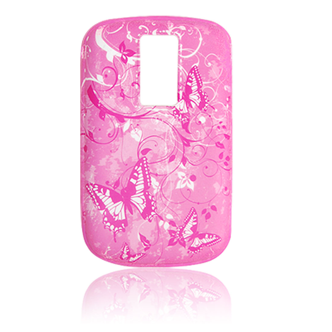 Butterfly Soft Plastic Case Cover Pink for Blackberry 9000