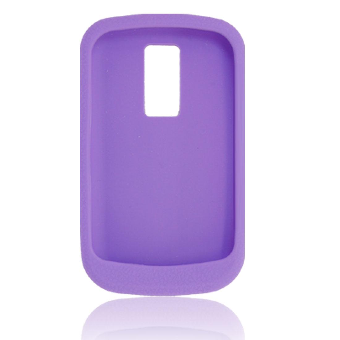 Anti-slip Purple Silicone Skin Case for Blackberry 9000