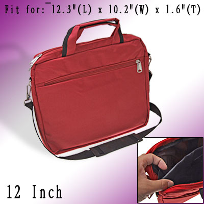 Red Handbag Carrying Travel Bag Case for 12 Inch Laptop