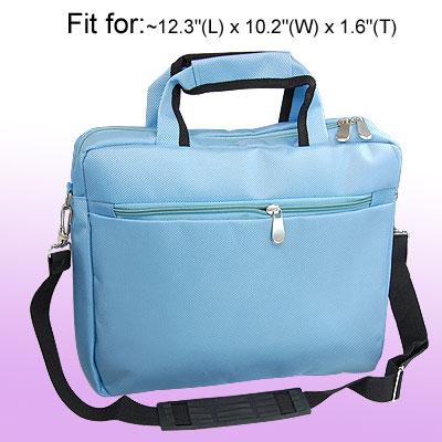 """12"""" Laptop Carrying Zippers Shoulder Bag Case Handbag Light Blue"""