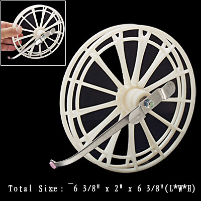 Metal White Plastic Fishing Reels Round Fly Reel Spool
