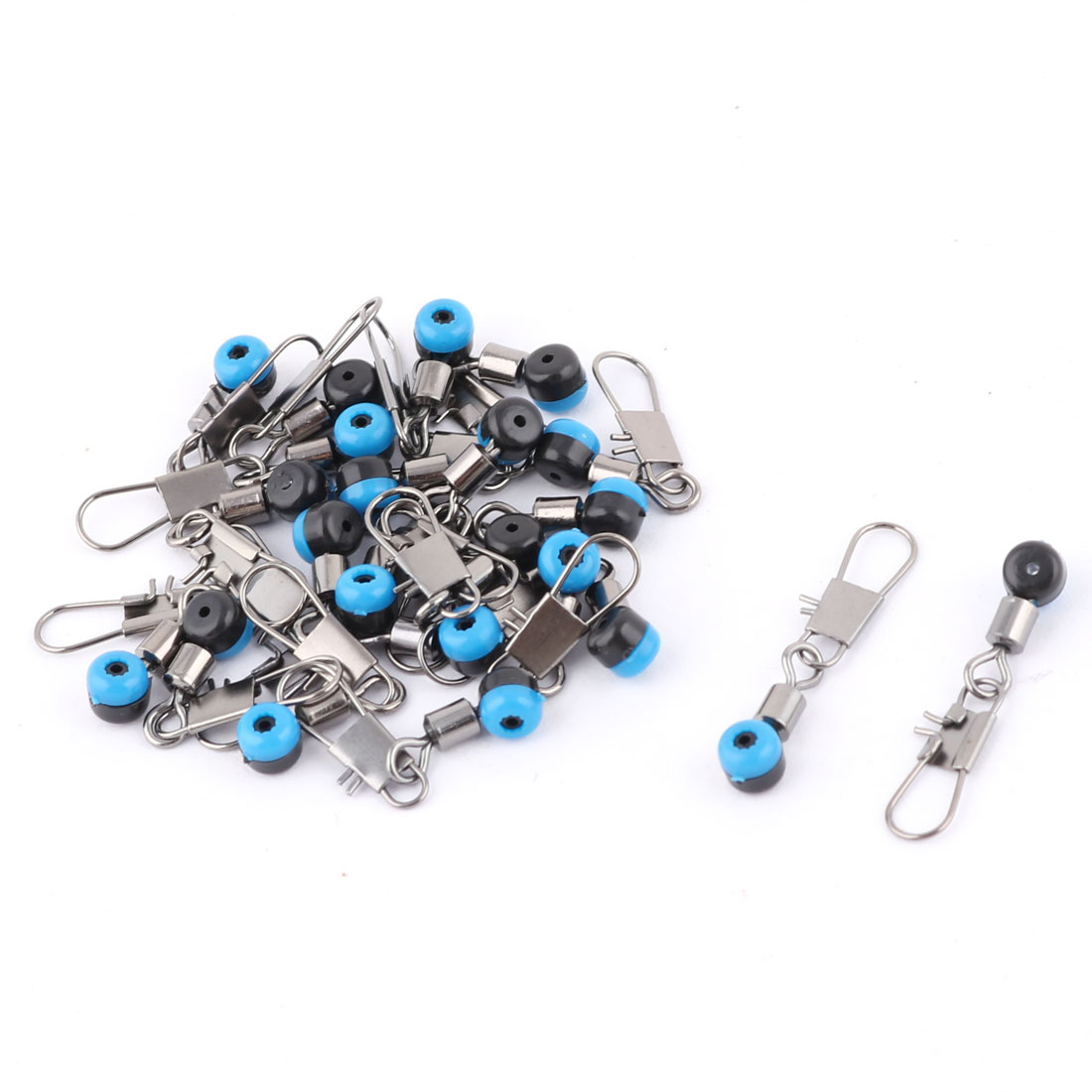 Blue Fishing Line to Hook Swivels Shank Connector 20PCS