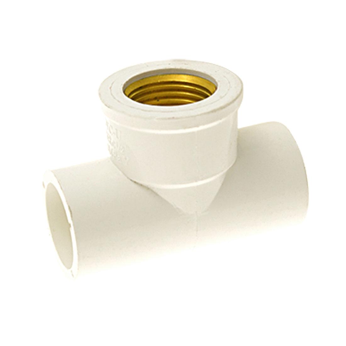 19mm Screw Socket Three Way PVC Water Pipe Tee Adapter